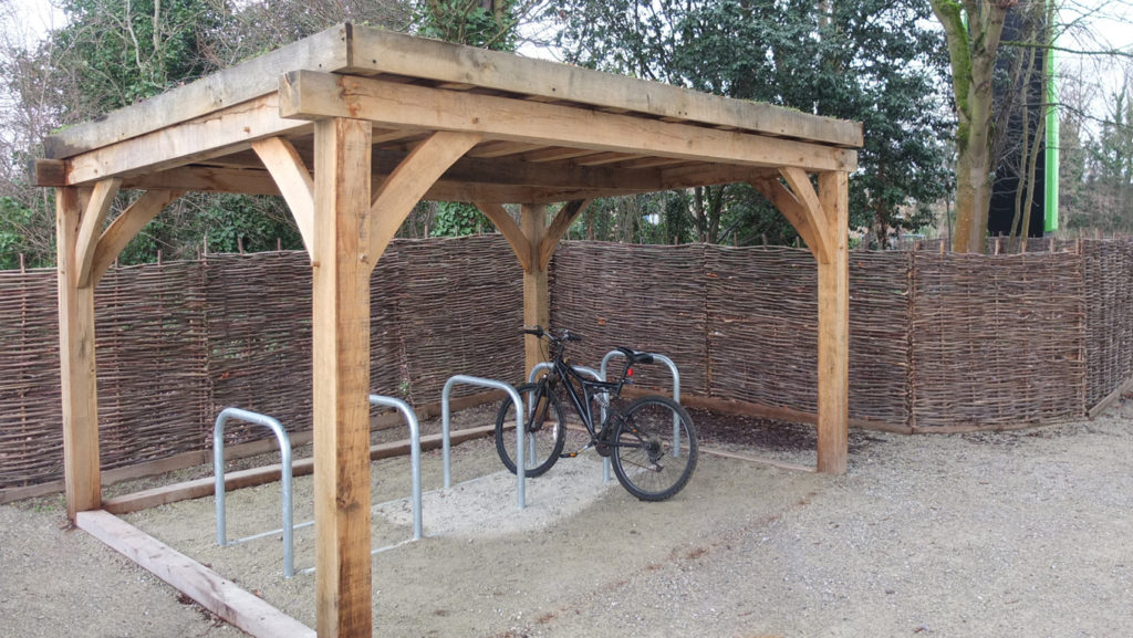 Crown Estates bike shed